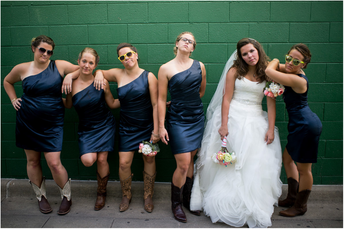 Bridesmaids Pose Seattle Wedding Photographers