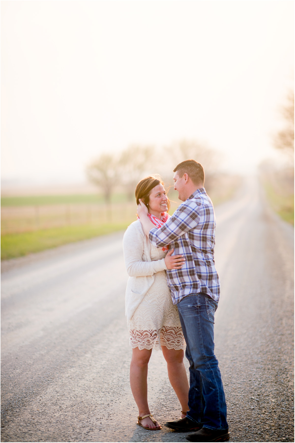 Country backroad engagement session 5