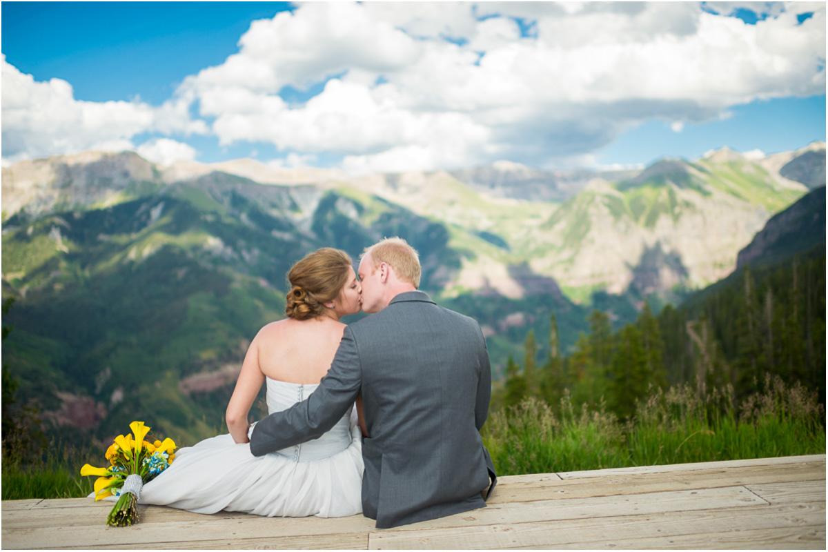 Mountaintop Telluride Colorado Wedding   Colorado Wedding Photographers