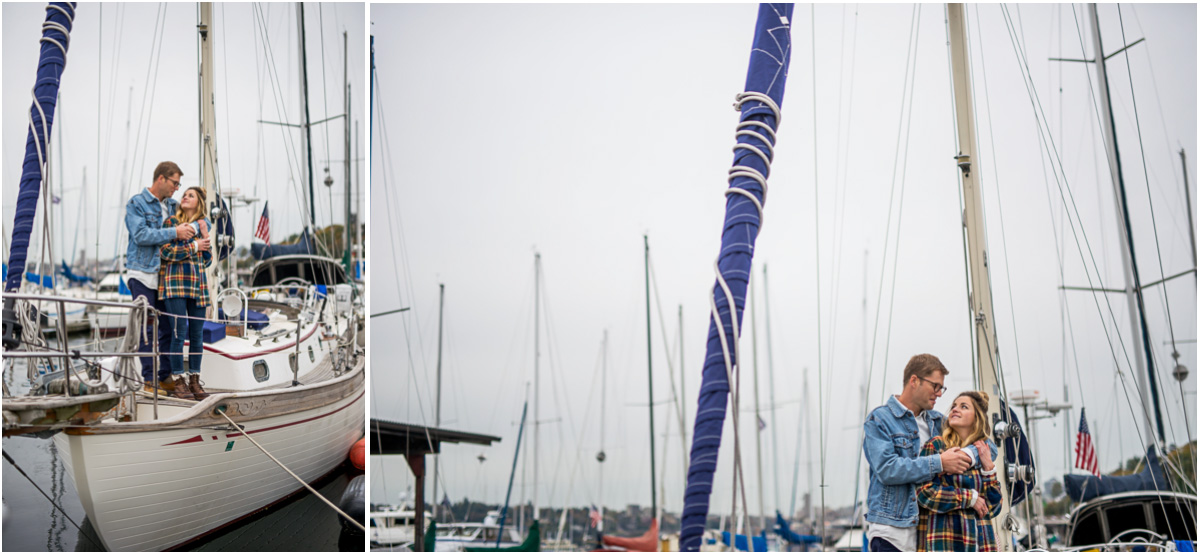 Nautical Sailboat Engagement Session on Lake Union1