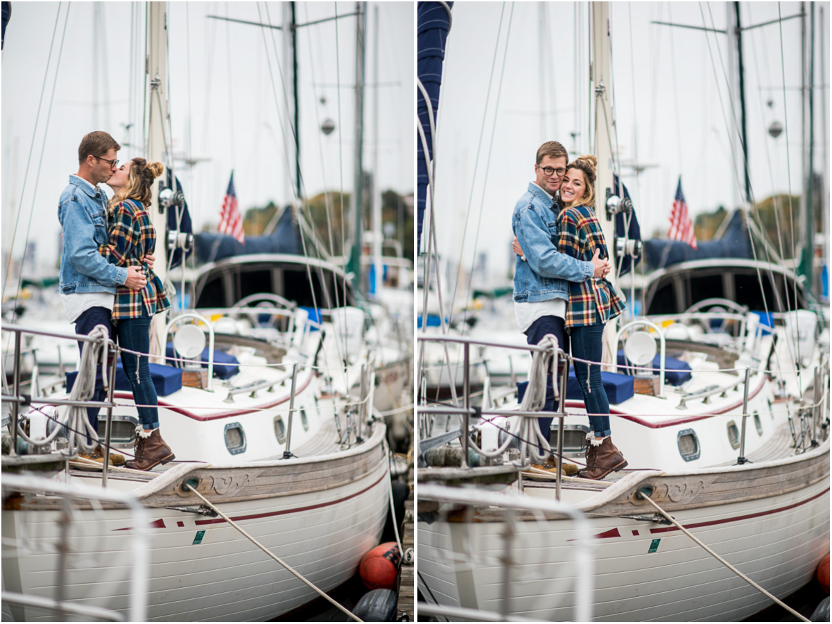 Nautical Sailboat Engagement Session on Lake Union3