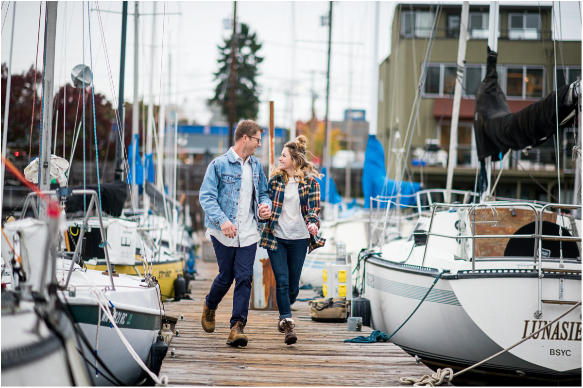 Nautical Sailboat Engagement Session on Lake Union5