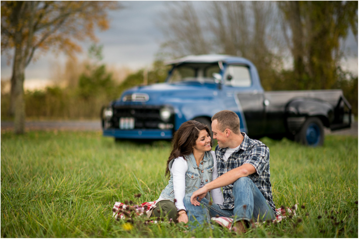 Seattle Wedding Photographers Country Bellingham Engagement with Studebaker