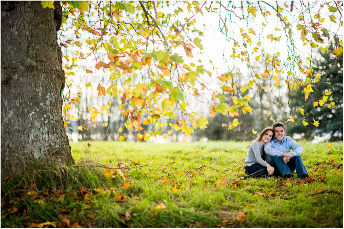 Seattle Wedding Photographers Discovery Park Fall Engagement