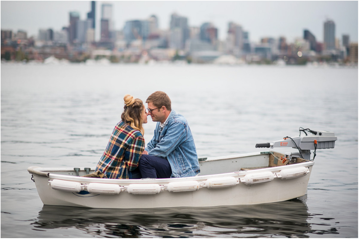 Seattle Wedding Photographers Lake Union Engagement
