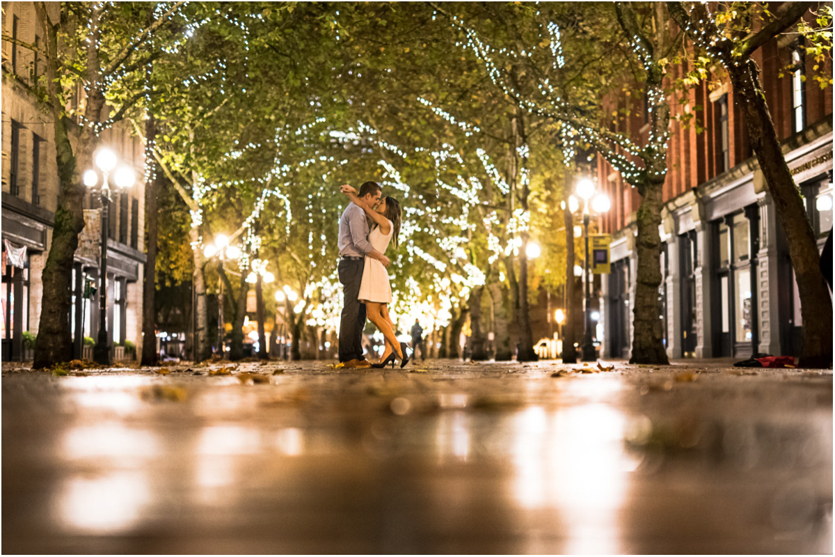 Seattle Wedding Photographers Pioneer Square Engagement