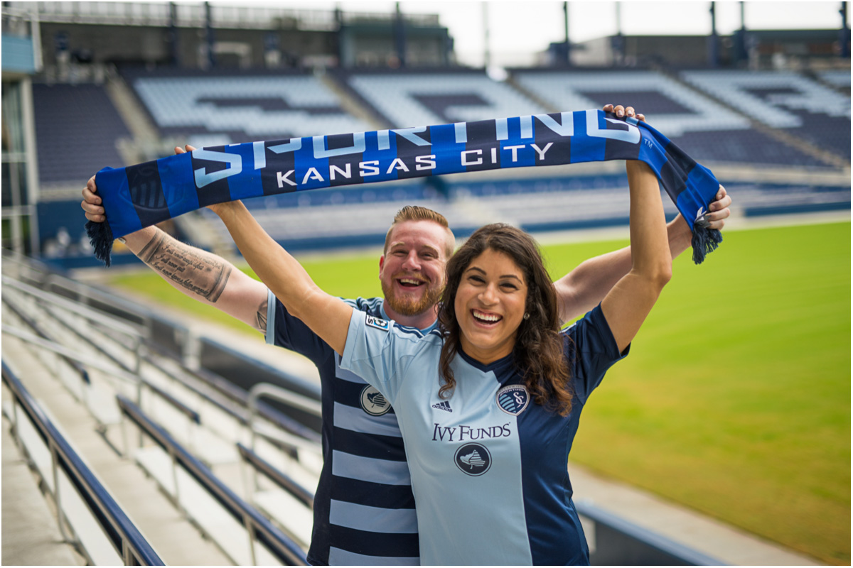 Sporting KC Engagement Session   Seattle Wedding Photographers