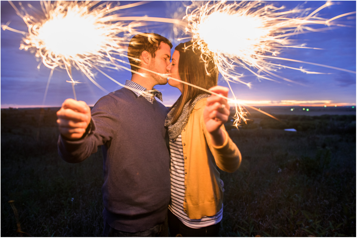 Sparkler Engagement Photo Seattle Wedding Photographers