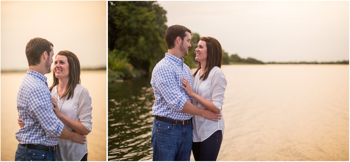 Topeka Lake Shawnee engagement session 9