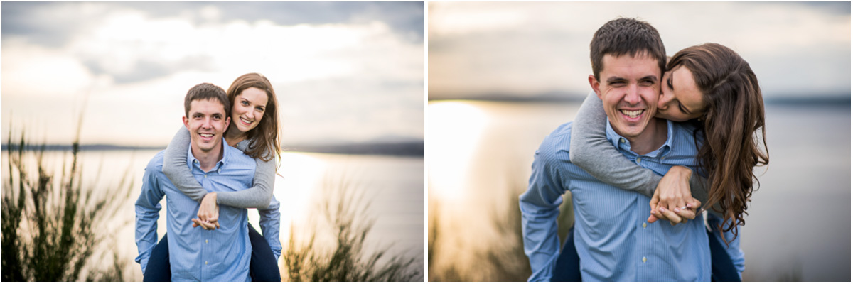 Cute Engagement Photos in Seattle's Discovery Park