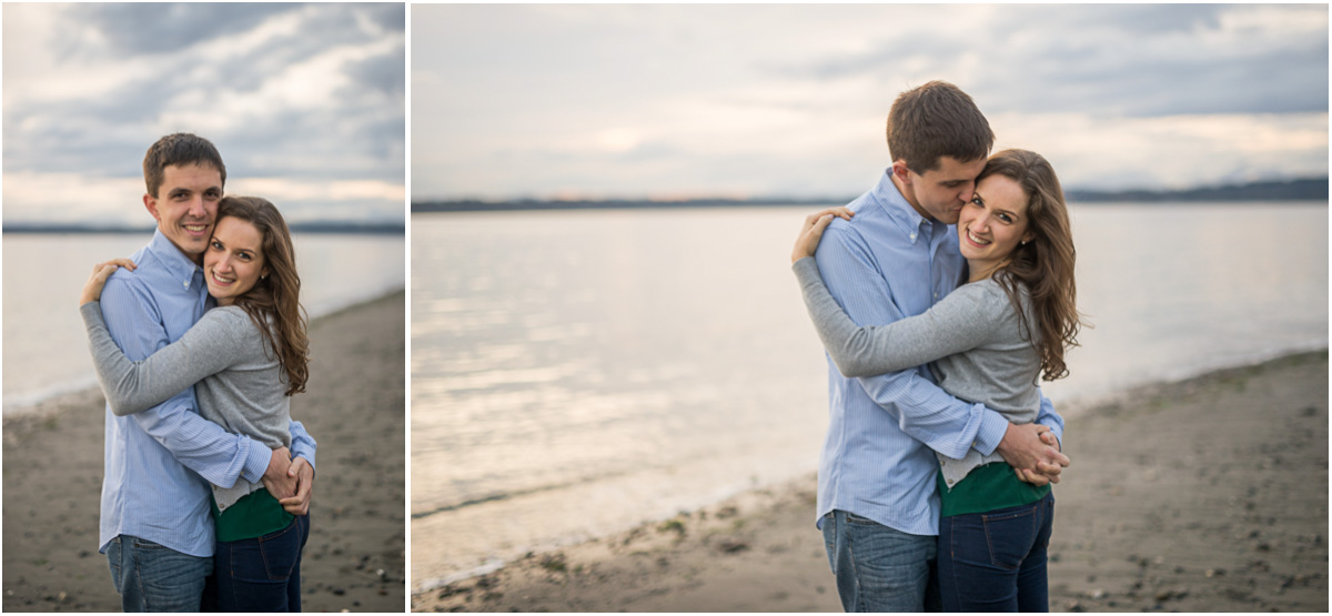 Discovery Park Beach Engagement Photos
