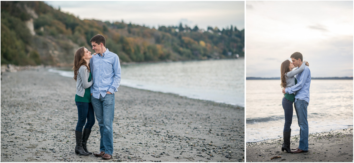 Seattle engagement photos on the beach
