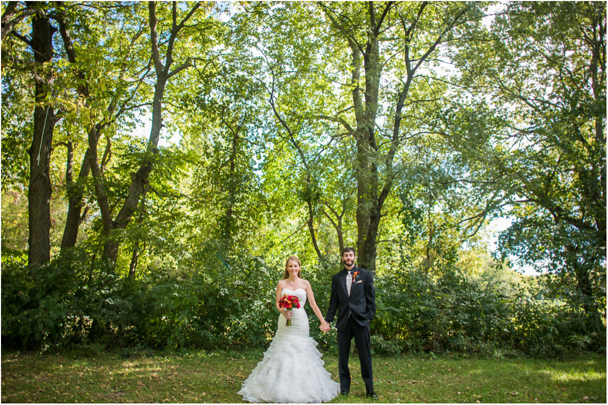 Classic Fall Wedding Creekside at Berryton Topeka Kansas