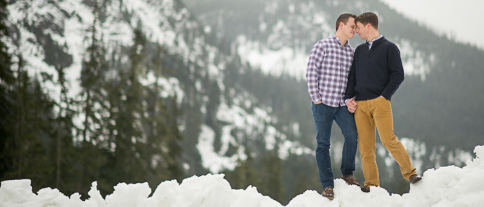 Engagement Session in the Mountains   Washington Wedding Photographers
