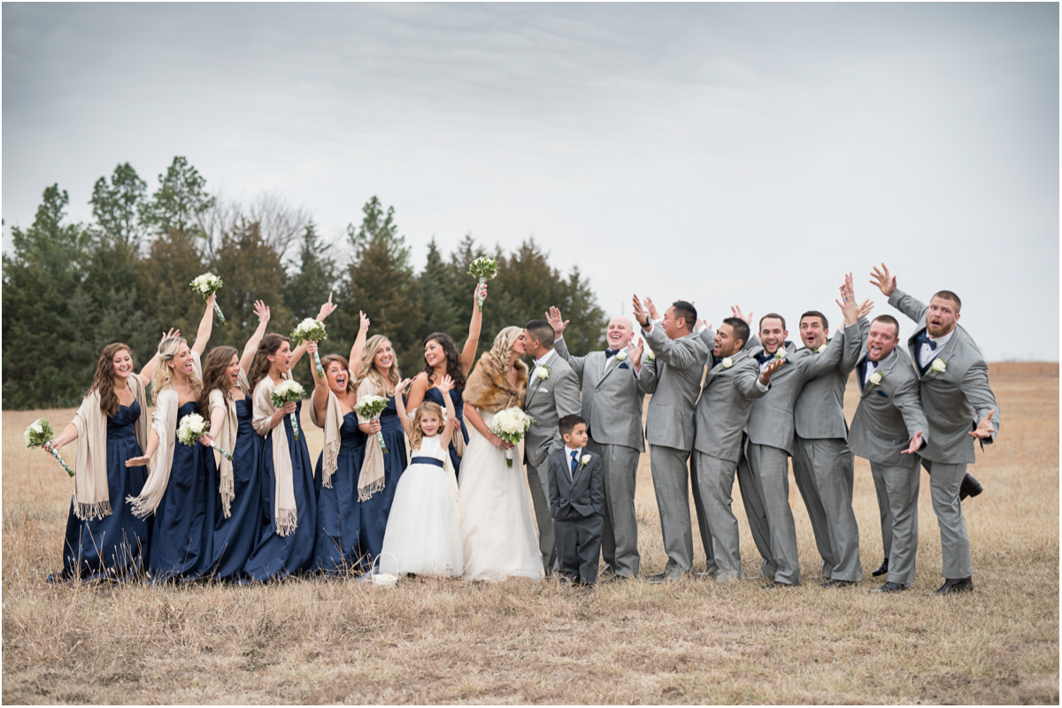 bridal party cheering bride groom Seattle Wedding Photographers Salt and Pine Photography