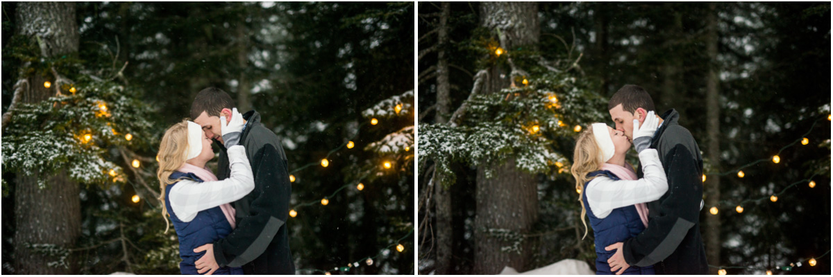 engagement session at dusk alpental ski area Seattle Wedding Photographers Salt and Pine Photography