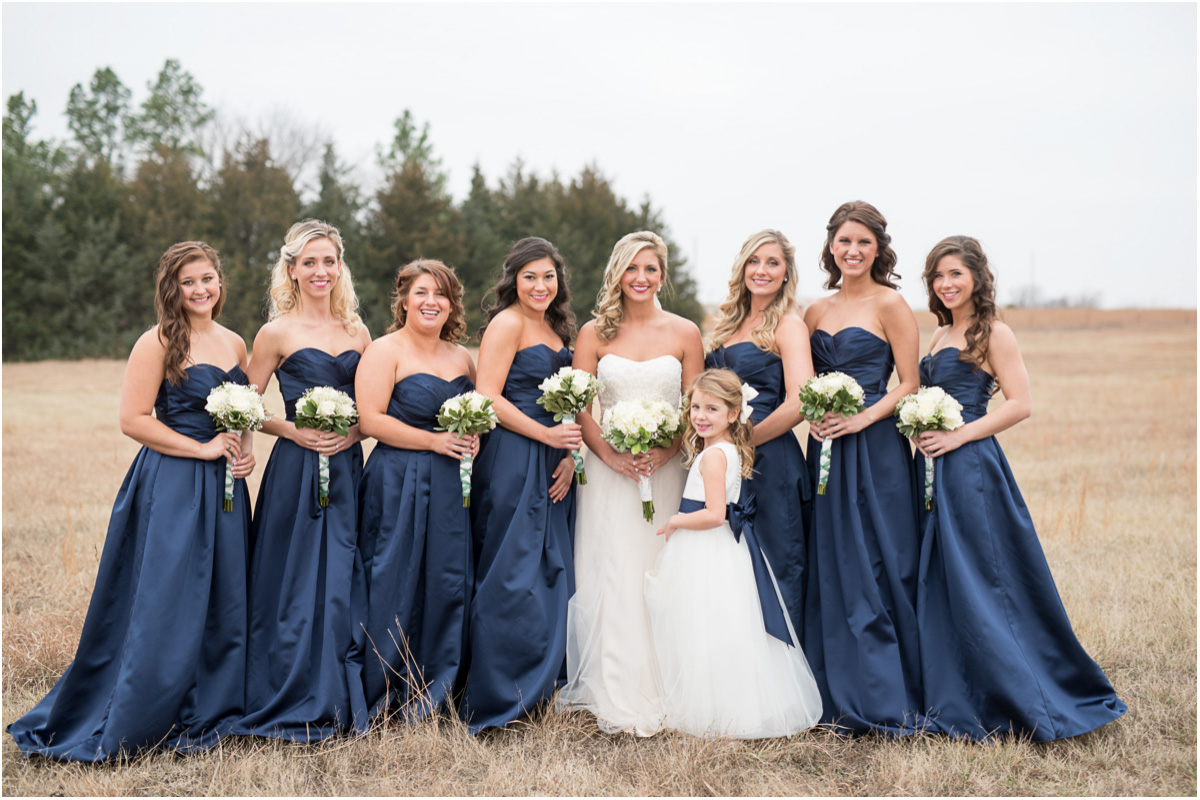 navy blue bridesmaids dresses Seattle Wedding Photographers Salt and Pine Photography