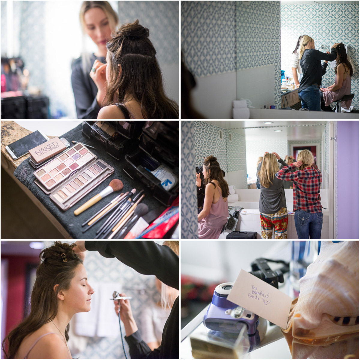 urbanista weddings bride make up seattle wedding on skansonia Salt and Pine Photography Seattle Wedding Photographers