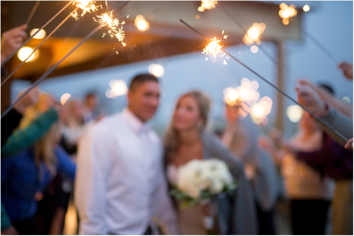 wedding sparklers new year winter wedding Seattle Wedding Photographers Salt and Pine Photography