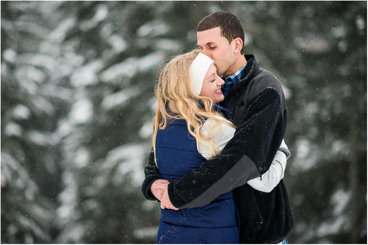 winter engagement in washington mountains Seattle Washington Wedding Photographers Salt and Pine Photography