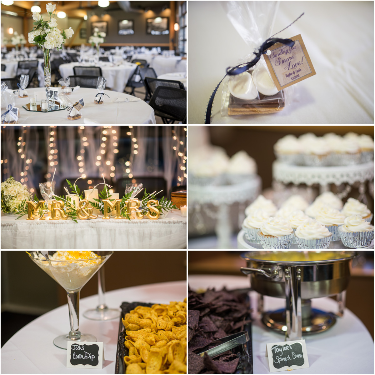 winter wedding reception details Seattle Wedding Photographers Salt and Pine Photography