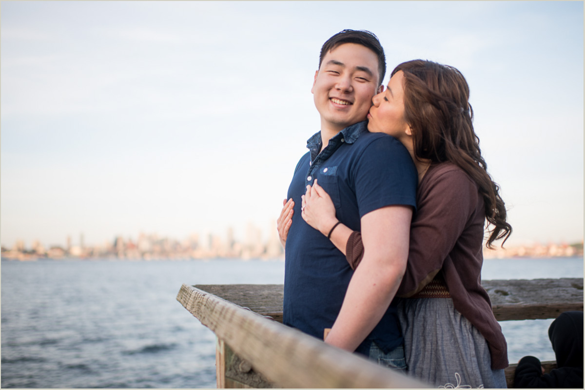 Alki Beach Engagement Session Seattle Wedding Photographers