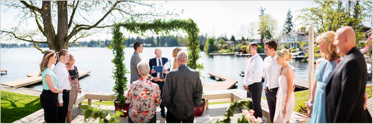 Intimate Lake Sawyer Wedding Black Diamond Washington Wedding Photographers