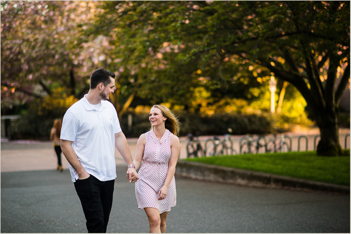 UW Cherry Blossom Engagement