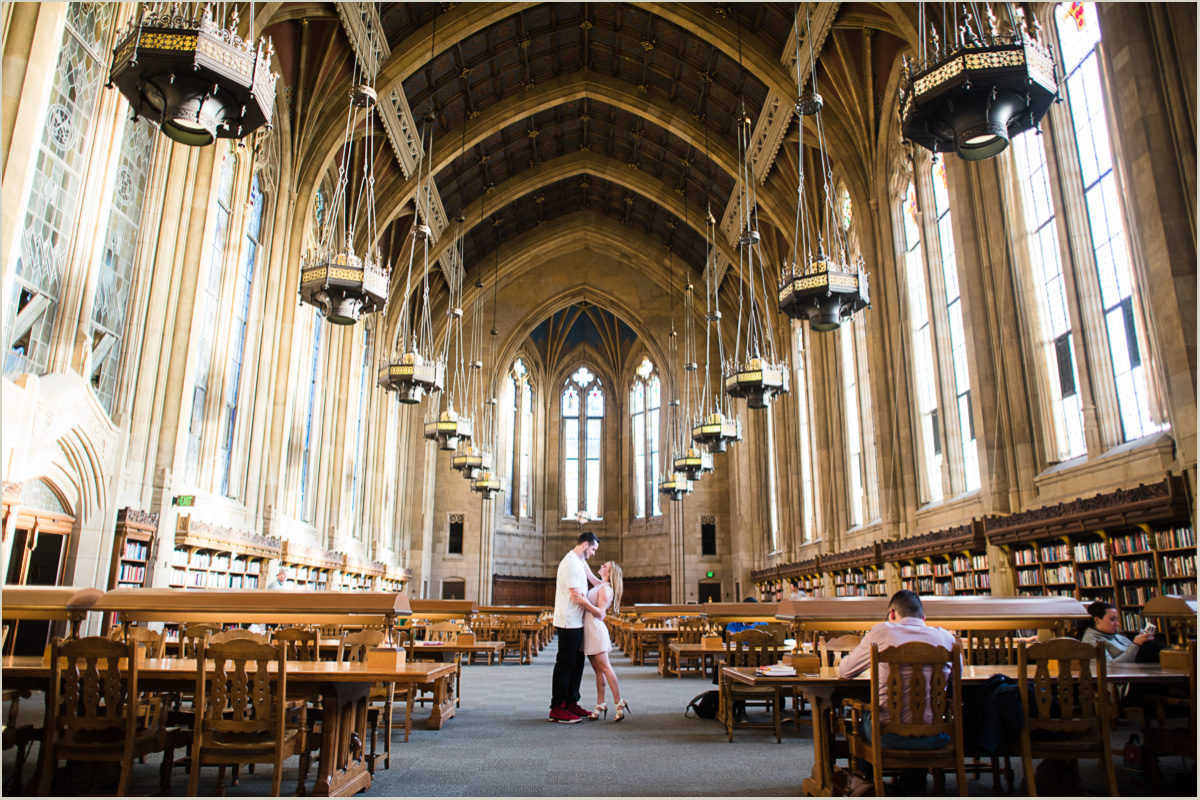 University of Washington Great Room Couples Photos