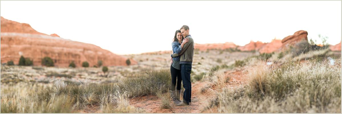 brenizer method photo moab engagement photographer