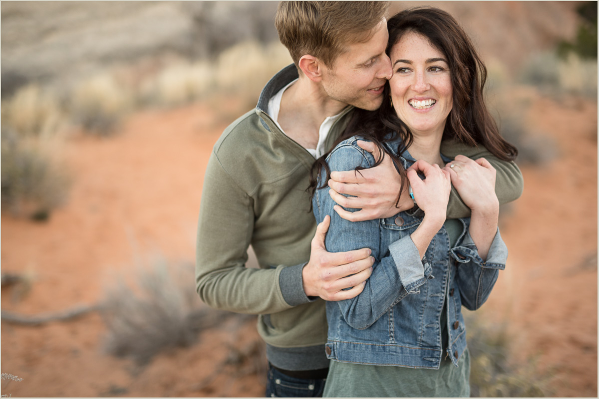 desert engagement session moab utah
