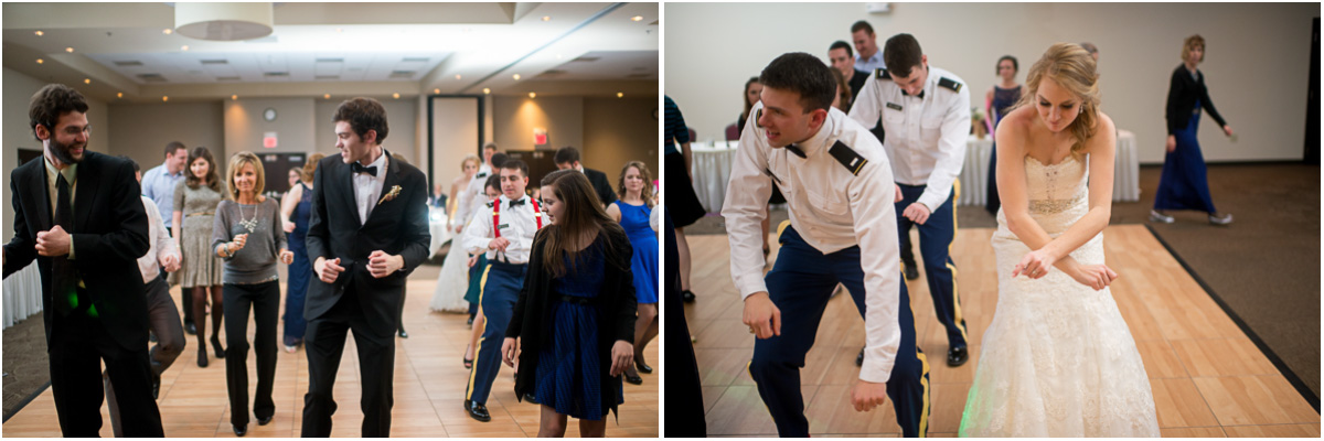 fun dance floor winter wedding