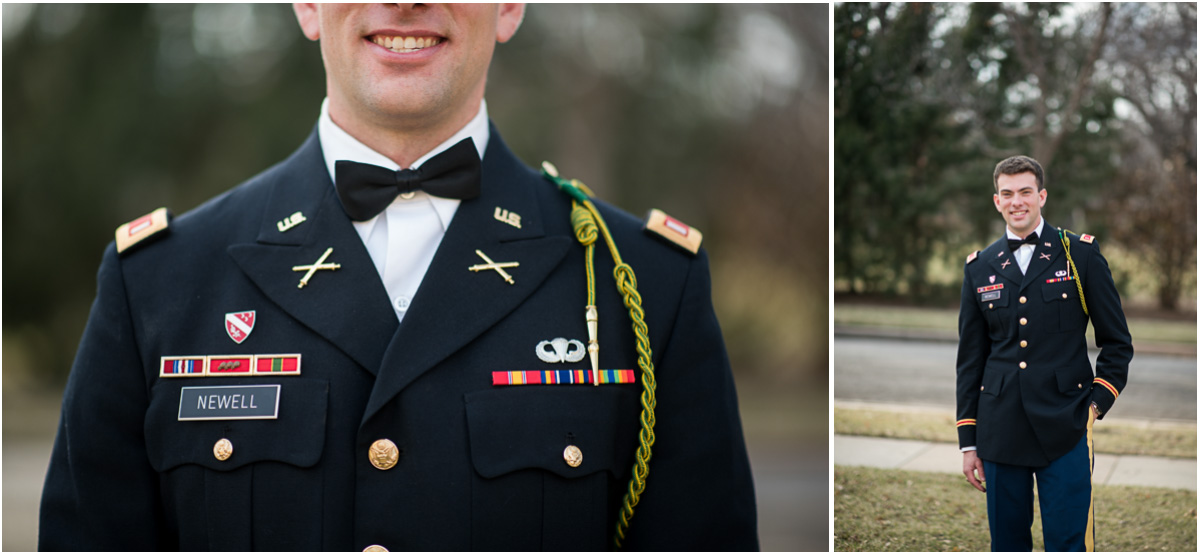 military groom portraits