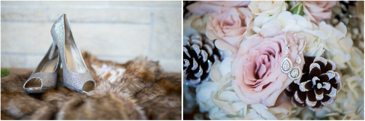 rustic winter wedding details