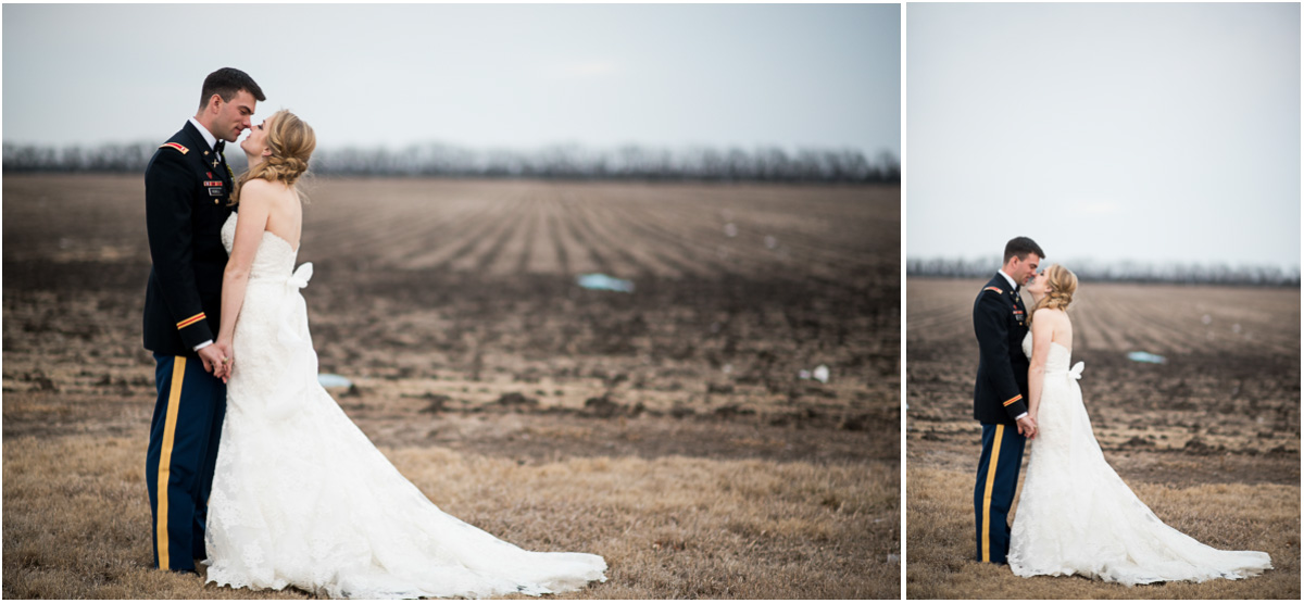 rustic winter wedding portraits