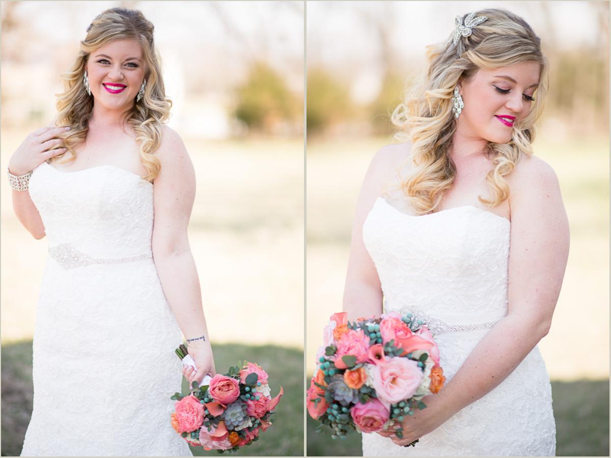 vintage spring wedding bride