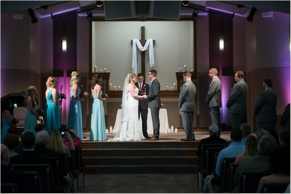 wedding ceremony at Faith Evangelical Church