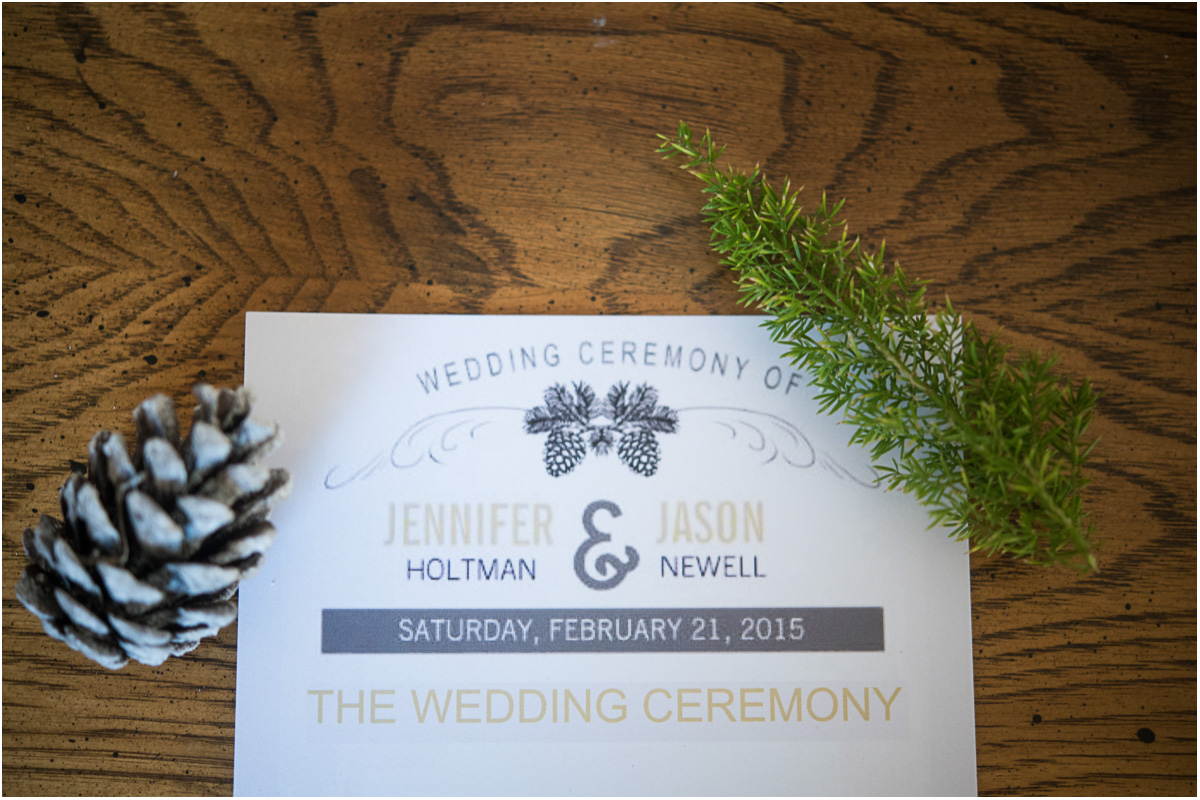 woodsy winter wedding invitation