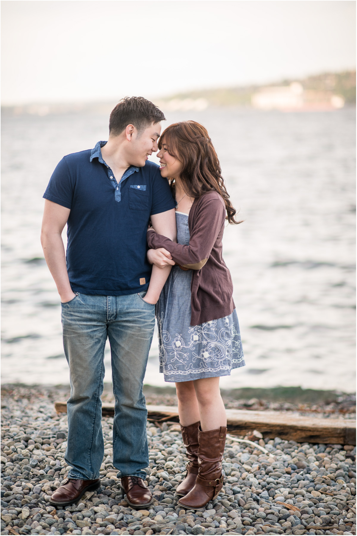 Alki Beach Seattle Engagement Session
