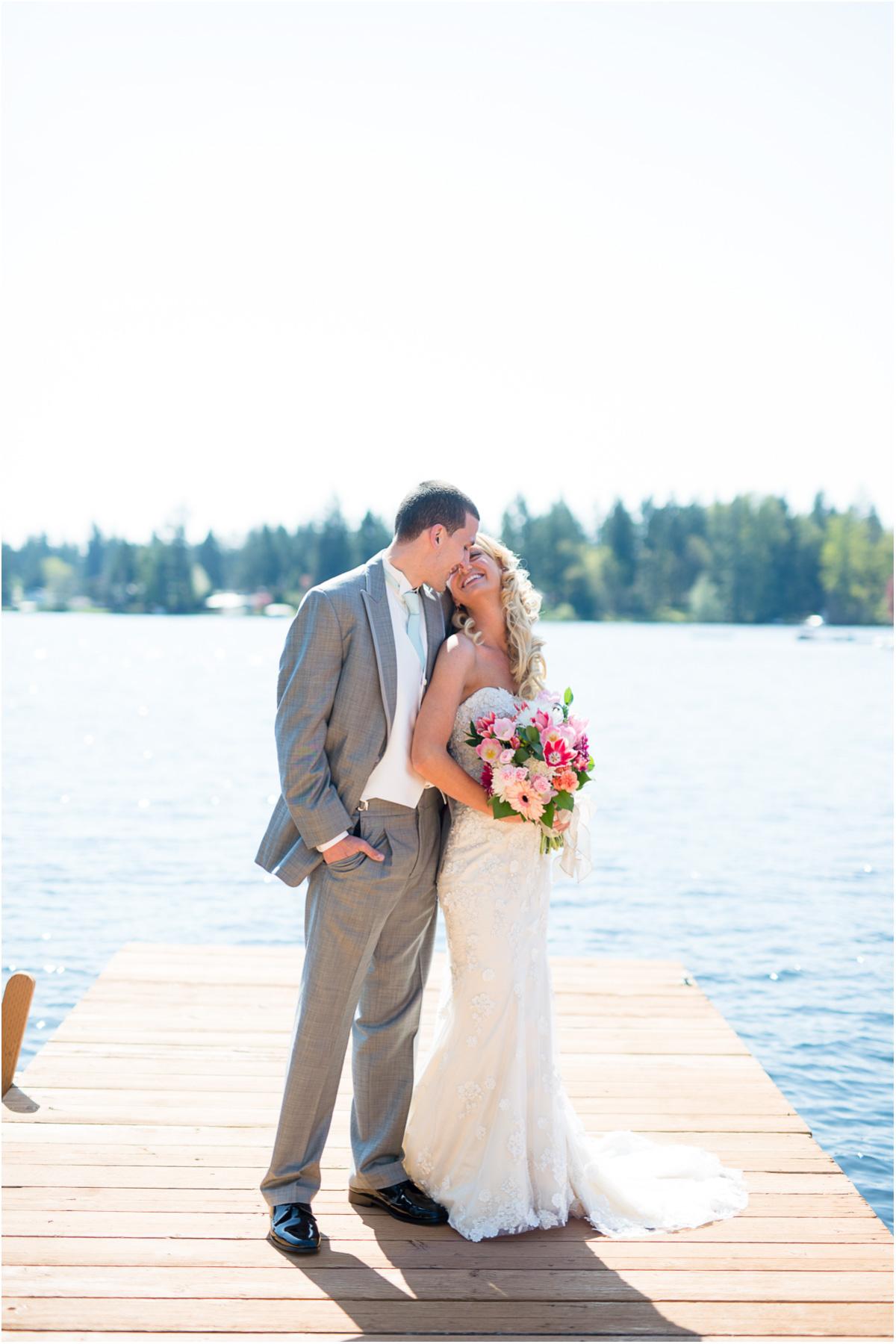 Backyard lake sawyer wedding