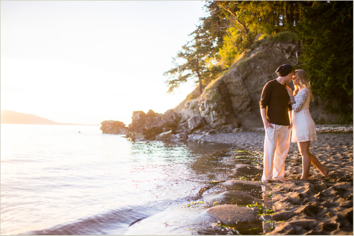 Beach Engagement Session Seattle Wedding Photographers