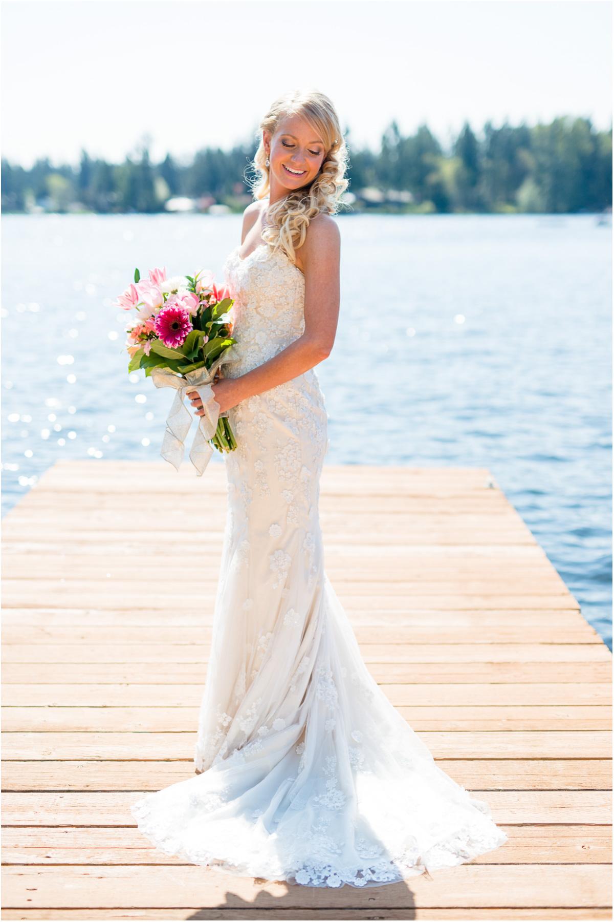 Beautiful Bride Backyard Washington Wedding Day