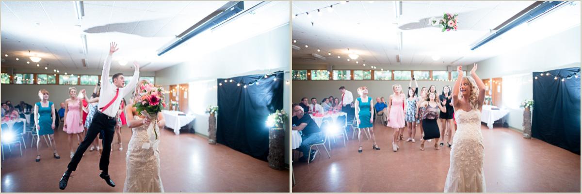Bouquet Toss Maple Valley Community Center Wedding