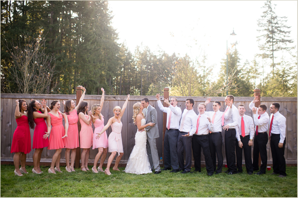 Bridal Party Photos Maple Valley Wedding