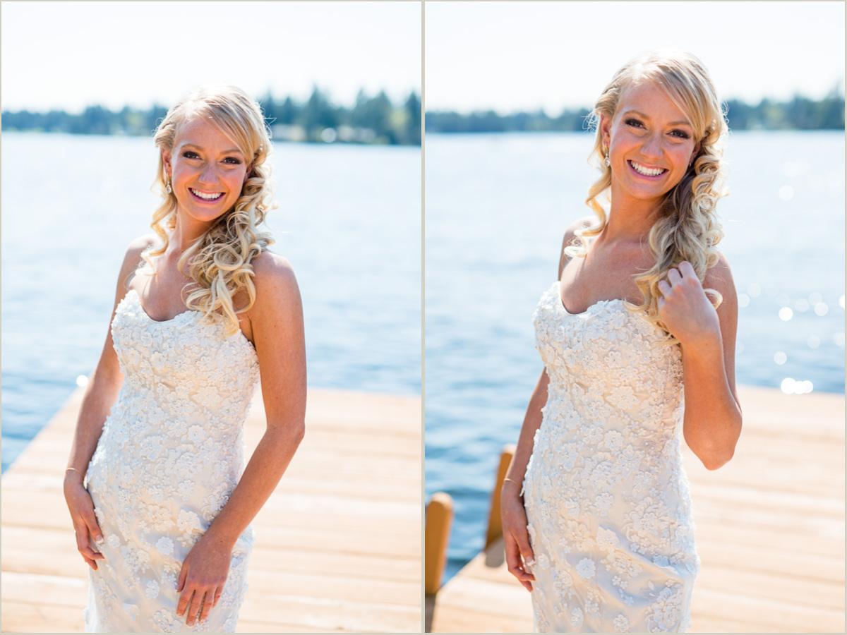 Bridal Portraits Lakeside Wedding