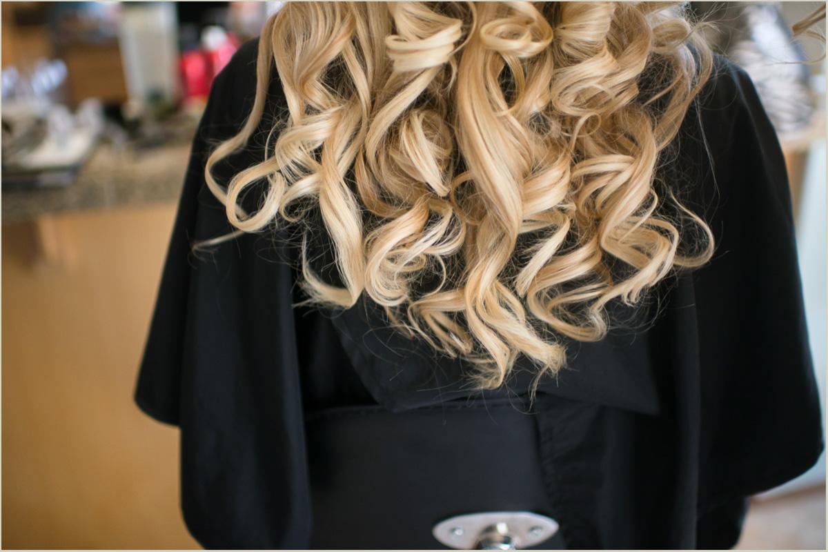 Bridal hairstyle for intimate backyard wedding