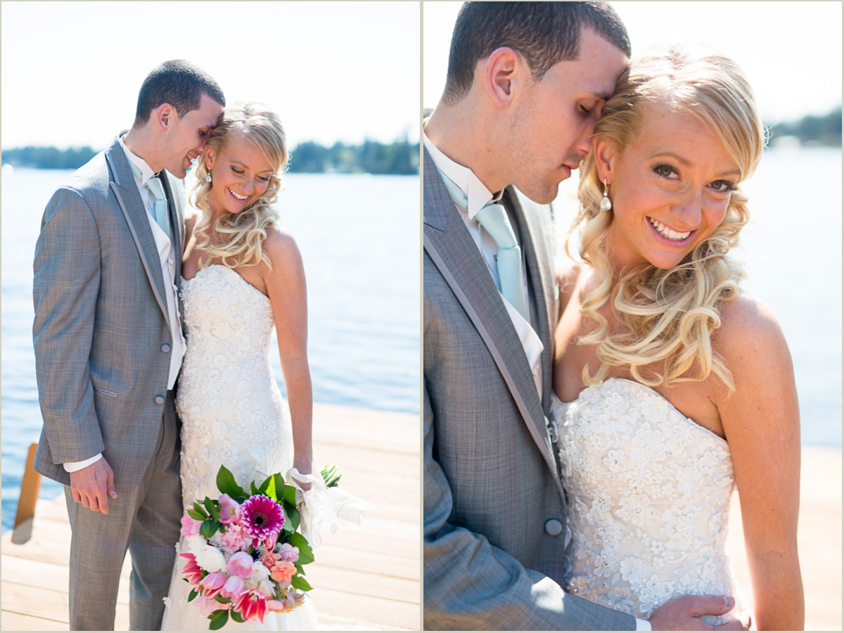 Bride and Groom Portraits on Lake Sawyer