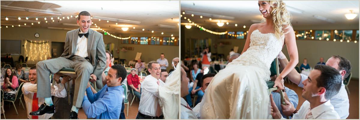 Bride and Groom Wedding Reception Hora Maple Valley Community Center