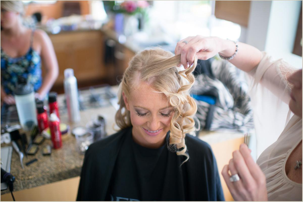 Bride wedding day hair and make up
