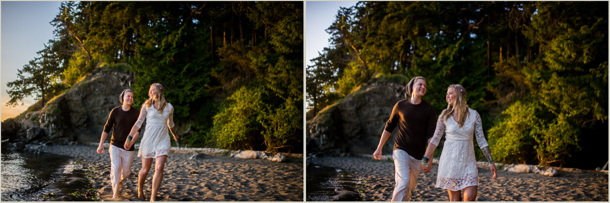 Chuckanut Beach Pacific Coast Engagement